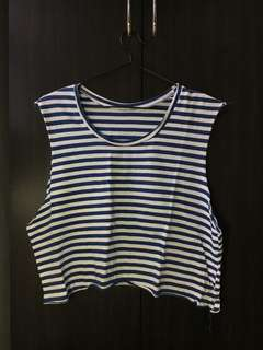 Navy blue striped tank