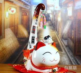 """Big - Long Tail Fortune Cat - 12"""""""