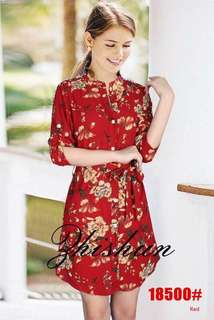 FLORAL CASUAL DRESS 18500 RC