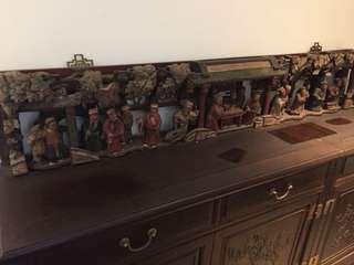 古董木彩浮雕