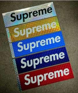 收Supreme hologram box logo sticker