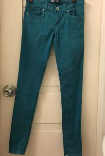 AUTHENTIC Levi's Turquoise (Blue Green) Sateen Legging Pants