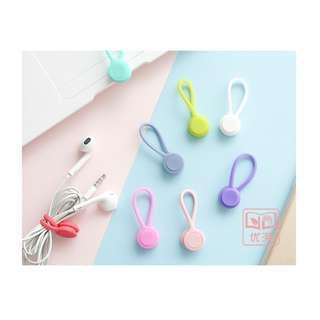 創意 馬卡龍 磁吸式 繞線器 磁鐵 集線器 手機 充電線耳機 硅膠 集線器 多色可選 收納 時尚 禮物