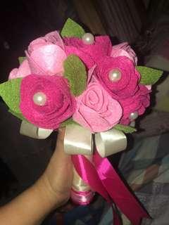 Felt cloth made mini bouquet