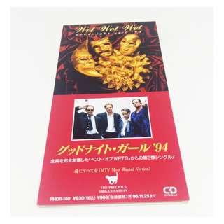 "Wet Wet Wet Rare Japan Promo 3"" CD Goodnight Girl '94 Love Is All Around 2 Track"