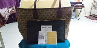 """Authentic Michael kors """"candy"""" reversible tote"""