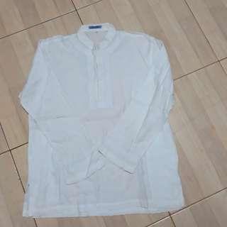 Baju koko putih L baru
