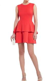 BCBG maxazria shirlee draped side peplum dress 🧡🧡