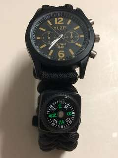 Tactical watch paracord