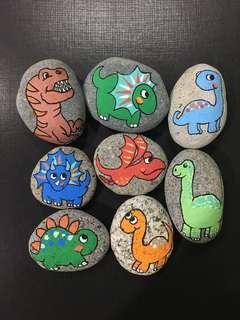 dinosaur rocks in a set