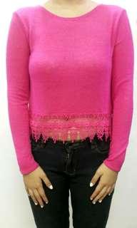 H&M Pink longsleeves knit sweater