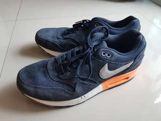 Nike Air Max 1 Premium Dark Obsidian Atomic Orange Size US 11 EUR 45
