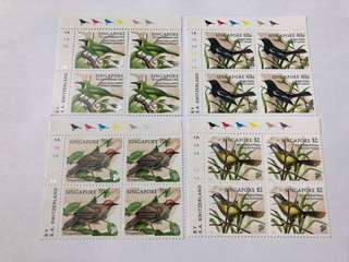 Singapore 1998 song birds in blk of 4 mnh