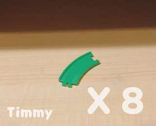 Yujin T-Art 扭蛋火車 扭蛋車 鐵路 鐵道模型 綠色路軌 X8