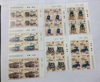 Singapore 1997 Transportation in blk of 4 mnh