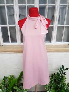 Seventeen Halter Neck Dress (Peach)