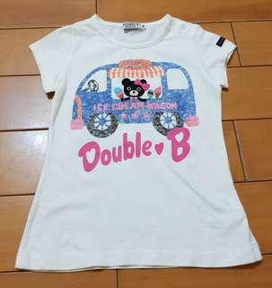 🚚 日本miki house Double B冰淇淋立體刺繡女童上衣