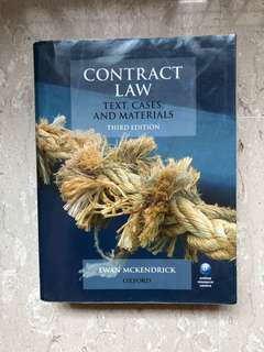 Contract Law (big mac) by Mckendrick (3rd edition)