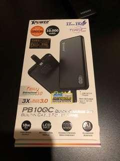 XPower PB10QC QC 3.0內置Type-C線外置充電器