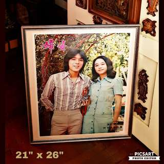 Rare 1970s Poster of Ah B and his ex-girlfriend Chelsea Chan (who later married the son of Shangrila Hotel boss). Both of them looks Really Good in this Poster. Large, not small. $88, sms 96337309.