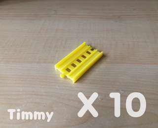 Yujin T-Art 扭蛋火車 扭蛋車 鐵路 鐵道模型 彩色火車 黃色直軌 X10