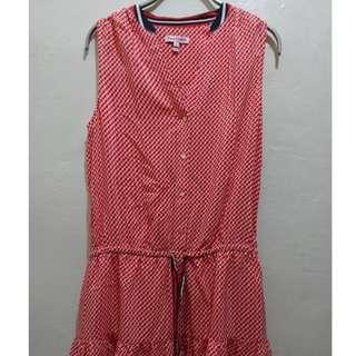 名牌女裝 Juicy couture 純蠶絲 橘紅色洋裝 尺寸0號 9成新 原價10000