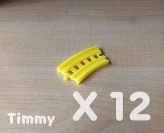 Yujin T-Art 扭蛋火車 扭蛋車 鐵路 鐵道模型 彩色火車 黃色彎軌 X12