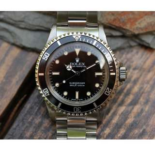 "1989 Ref 5513 Rolex Submariner with ""spider"" dial"