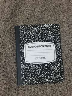 Composition Notebook: US College Themed