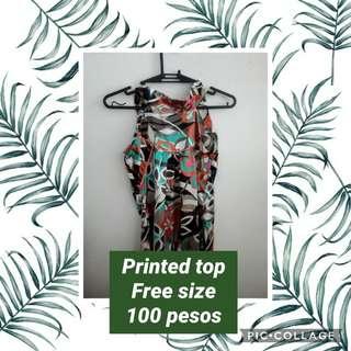 Printed top