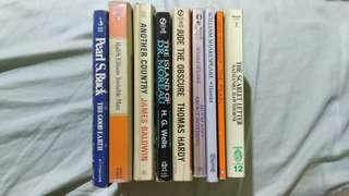 CLASSIC BUNDLE! 9 books! Ralph Ellison, Pearl S. Buck, James Baldwin, H.G. Wells, Thomas Hardy, Shakespeare, Steinback, Hawthrone