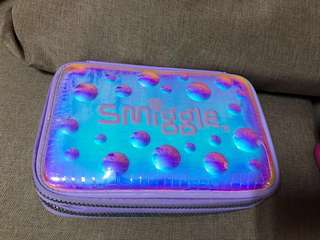 Authentic Smiggle Hard Top Double Zip Pencil Case