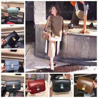 Celine new box postman bag flip small shoulder Messenger bag ladies tofu bag