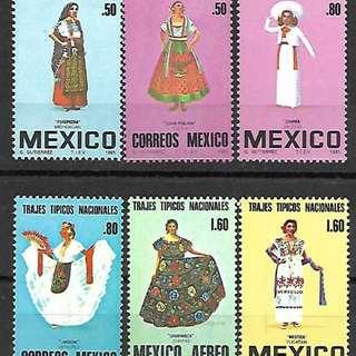 墨西哥1980一81民族服飾服裝6全