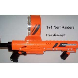 Nerf Raider CS 35 orange & Nerf Raider CS 35 Guns