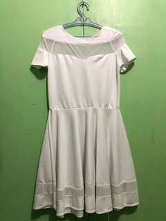 White Dress with Mesh