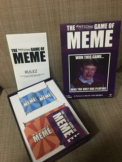 The Awesome Game of Memes