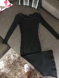 Zalora Black Bodycon Dress with Slit