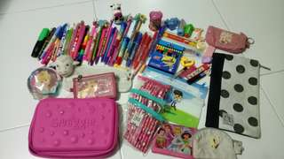 Huge stationery clearance! Free gift! Smiggle pencil case, wallets and pencils