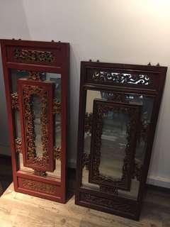 古董木雕鏡