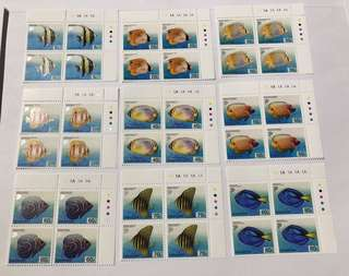 Singapore 2002 Marine Fishes in blk of 4 mnh