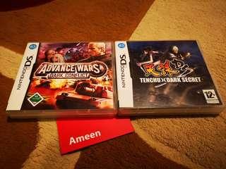 NDS Games Advance Wars Dark Conflict & Tenchu Dark Secret
