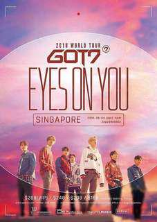 GOT7 'Eyes On You' in SG 2x VIP STANDING PEN B Tickets
