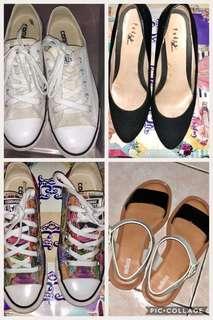 2 converse,1 melissa free pedro heels