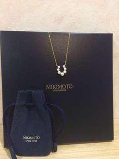 🚚 Mikimoto馬蹄珍珠鎖骨鏈18k黃金 御木本