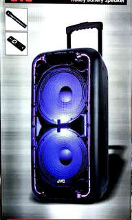 JVC BLUETOOTH SPEAKERS WITH USB AND KARAOKE RECHARGEABLE WITH LED LIGHTS