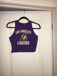 Los Angels Lakers Crop Tank