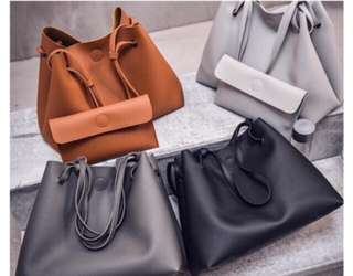 2 in 1 korea bag with pouch