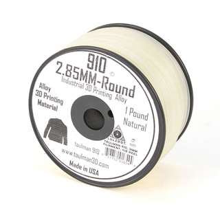 Alloy 910, 2.85mm 1 Pound, 3d Filament by Taulman