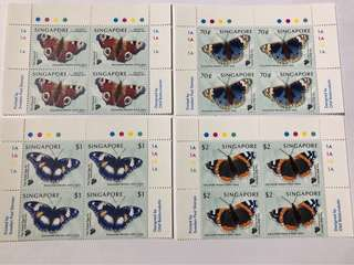 Singapore 1999 Butterflies in blk of 4 mnh